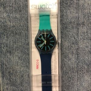 Rare Blue Men's Swatch Watch